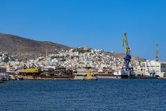 Die Insel von Syros Stockfoto