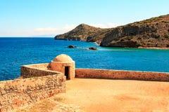Die Inselfestung von Spinalonga Stockbild