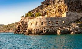 Die Inselfestung von Spinalonga, Kreta Stockbilder
