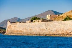 Die Inselfestung von Spinalonga, Kreta Lizenzfreie Stockfotografie