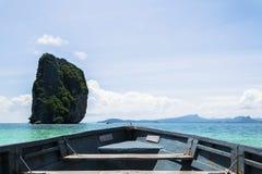 Die Inseln sind an Größe, Bootskopf groß stockbilder