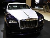Rolls Royce stellte an der New- YorkAutomobilausstellung zur Schau Stockbilder