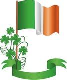 Die irische Flagge Lizenzfreie Stockfotografie