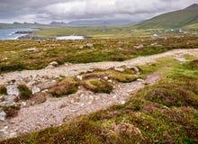 Die irische Westküste an einem windigen Tag Stockfotografie