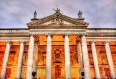 Die irischen Parlamentsgebäude Lizenzfreies Stockfoto
