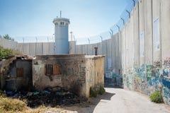 Die israelische Westjordanlandsperre Stockbild