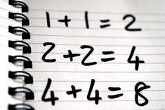 Die ist Mathematik Stockfoto