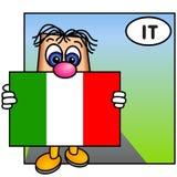 Die italienische Markierungsfahne Lizenzfreie Stockbilder