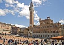 Die italienische Stadt von Siena ist der ewige Rivale von Florenz stockfoto
