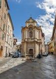 Die italienische Stadt von Siena ist der ewige Rivale von Florenz stockfotografie