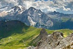 Die italienischen Alpen Lizenzfreie Stockfotos