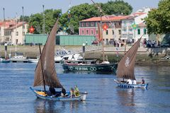 Die IX Sitzung der traditionellen Boote von Vila tun Conde. stockfotografie