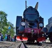 Die jährliche Parade über Dampflokomotiven in Wolsztyn, Polen lizenzfreies stockbild