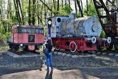 Die jährliche Parade über Dampflokomotiven in Wolsztyn, Polen stockfoto