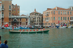 Die jährliche Regatta hinunter Grand Canal in Venedig Italien Stockfoto