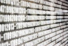 Die Jahre nummeriert auf der Wand bei Erzsebet Square in Budapest Stockbilder