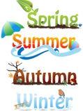 Die Jahreszeiten lizenzfreie abbildung