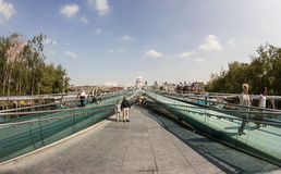 Die Jahrtausend-Brücke Stockfoto