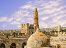 Die Jerusalem-Zitadelle Stockfotos