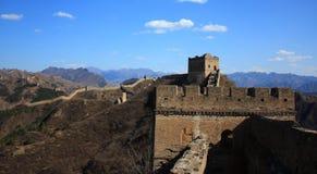 die jinshanling Chinesische Mauer Lizenzfreies Stockfoto