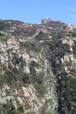 Die Jobstepps zur Oberseite des Berges Tai Lizenzfreie Stockfotografie