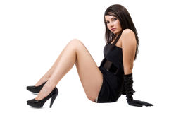 Die junge Frau des Sitzens Stockbild