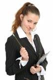 Die junge Geschäftsfrau Stockbild