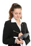 Die junge Geschäftsfrau Stockfoto