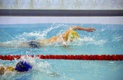 Die Junge sports Schwimmer Stockfotografie