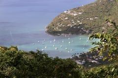 Die Jungferninseln sehen vom Hafen an lizenzfreie stockfotos