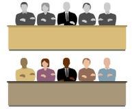 Die Jury Stockbild