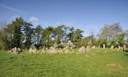 Die Könige Men Stone Circle Stockfoto