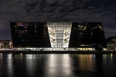 Die königliche Bibliothek in Kopenhagen stockfotos
