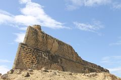 Die königliche Festung von Santiago de Arroyo de Araya stockbild