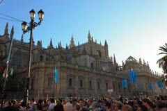 Die königliche Jungfrau in Sevilla Stockfotos