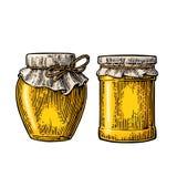 Die Körner des Kaffees werden auf einer Tabelle verschüttet Gravierte Illustration des Vektors Weinlese lizenzfreie abbildung