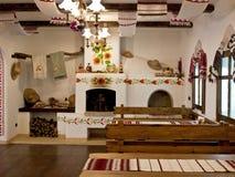Die Küche in der alten Slavicart Stockfotografie