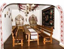 Die Küche in der alten Slavicart Stockbilder