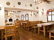 Die Küche in der alten Slavicart Stockfoto