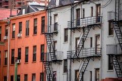 Die Küche der Hölle, New York City, typische traditionelle Wohngebäude lizenzfreies stockfoto