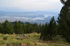Die künstliche Höhe des Aoos Sees 1350m, Epirus, Griechenland Stockfotos