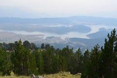 Die künstliche Höhe des Aoos Sees 1350m, Epirus, Griechenland Stockfotografie