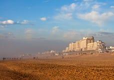 Die Küste der Nordsee in Noordwijk lizenzfreies stockbild