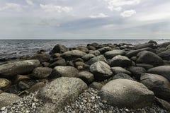 Die Küste der Ostsee, Rugen-Insel, Deutschland stockfotografie