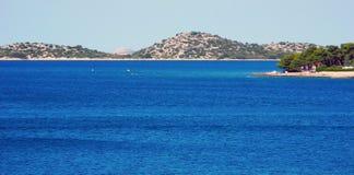 Die Küste des adriatischen Meeres Lizenzfreie Stockfotos