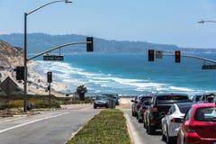 Die Küste entlang Carmel Valley, Kalifornien Lizenzfreie Stockfotos
