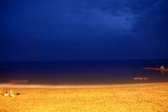 Die Küste Schwarzen Meers in Adler Stockbild