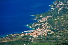 Die Küste von Baska Voda lizenzfreies stockfoto