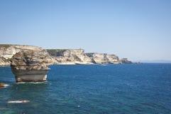Die Küste von Bonifacio Lizenzfreie Stockbilder