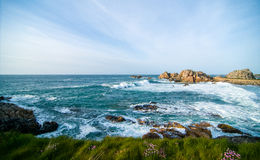 Die Küste von Bretagne Stockfotos